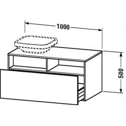 Duravit Durastyle DS6784L2222 Тумбочка подвесная 100 см Белый глянцевый