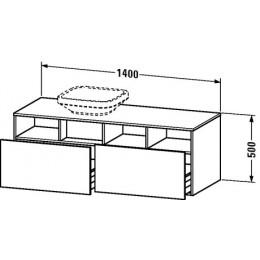 Duravit Durastyle DS6785L0707 Тумбочка подвесная 140 см Бетонно-серый матовый