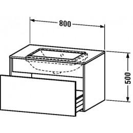 Duravit Durastyle DS688300707 Тумбочка подвесная для встраиваемого снизу умывальника в комплекте 80 см Бетонно-серый матовый