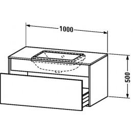 Duravit Durastyle DS688400707 Тумбочка подвесная для встраиваемого снизу умывальника в комплекте 100 см Бетонно-серый матовый