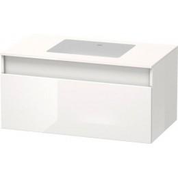 Duravit Durastyle DS688402222 Тумбочка подвесная для встраиваемого снизу умывальника в комплекте 100 см Белый глянцевый