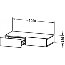 Duravit Durastyle DS827000707 Полочка с ящиком 100 см Бетонно-серый матовый
