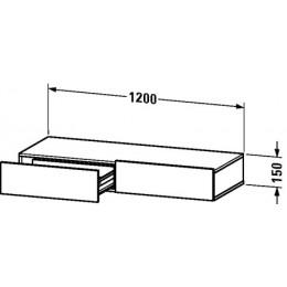 Duravit Durastyle DS827100707 Полочка с ящиком 120 см Бетонно-серый матовый