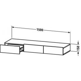 Duravit Durastyle DS827200707 Полочка с ящиком 150 см Бетонно-серый матовый