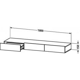 Duravit Durastyle DS827300707 Полочка с ящиком 180 см Бетонно-серый матовый