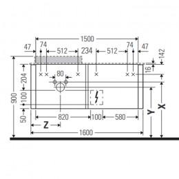Duravit Happy D.2 Plus HP4934L2222 Тумба подвесная 160 см белый глянец