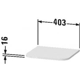 Duravit Happy D.2 Plus HP030008080, Декоративный топ для шкафа, 40 см, цвет орех
