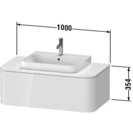 Duravit Happy D.2 Plus HP494102222 Тумба подвесная 100 см белый глянец
