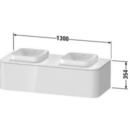 Duravit Happy D.2 Plus HP4943B2222 Тумба подвесная 130 см белый глянец