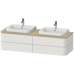 Duravit Happy D.2 Plus HP4974B3939 Тумба подвесная 160 см скандинавский белый шелковисто-матовый лак