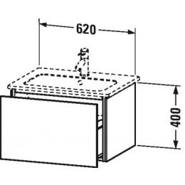 Duravit L-Cube LC614004040 Тумба подвесная 62 см Черный глянцевый