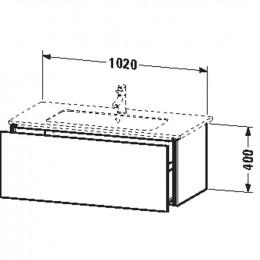 Duravit L-Cube LC614202222 Тумба подвесная 102 см Белый глянцевый