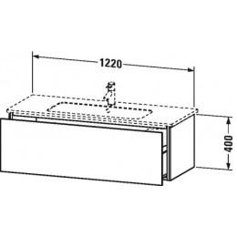 Duravit L-Cube LC614302222 Тумба подвесная 122 см Белый глянцевый