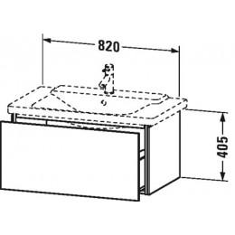 Duravit L-Cube LC614702222 Тумба подвесная 82 см Белый глянцевый