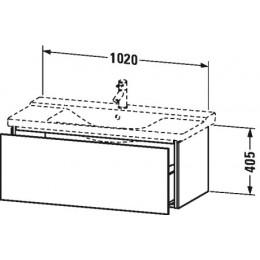 Duravit L-Cube LC615002222 Тумба подвесная 102 см Белый глянцевый
