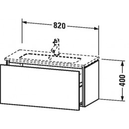 Duravit L-Cube LC615702222 Тумба подвесная 82 см Белый глянцевый