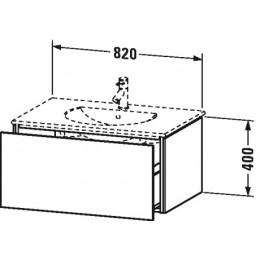 Duravit L-Cube LC616202222 Тумба подвесная 82 см Белый глянцевый