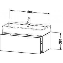 Duravit L-Cube LC617804040 Тумба подвесная 98 см Черный глянцевый