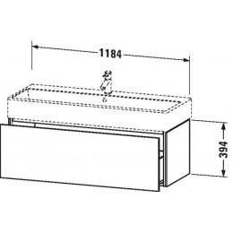 Duravit L-Cube LC617902222 Тумба подвесная 118 см Белый глянцевый