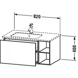 Duravit L-Cube LC619102222 Тумба подвесная 82 см Белый глянцевый