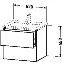 Duravit L-Cube LC624002222 Тумба подвесная 62 см Белый глянцевый