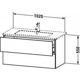 Duravit L-Cube LC624202222 Тумба подвесная 102 см Белый глянцевый