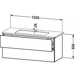 Duravit L-Cube LC624302222 Тумба подвесная 122 см Белый глянцевый
