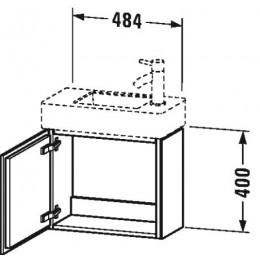 Duravit L-Cube LC6246L2222 Тумба подвесная 48 см Белый глянцевый