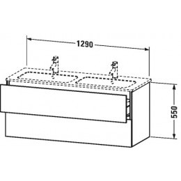 Duravit L-Cube LC625802222 Тумба подвесная 129 см Белый глянцевый