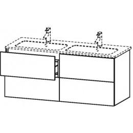 Duravit L-Cube LC625902222 Тумба подвесная 129 см Белый глянцевый
