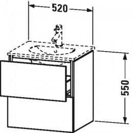Duravit L-Cube LC626004040 Тумба подвесная 52 см Черный глянцевый
