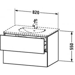 Duravit L-Cube LC626202222 Тумба подвесная 82 см Белый глянцевый