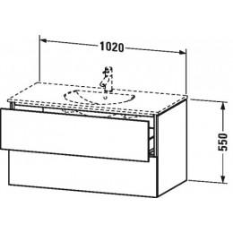 Duravit L-Cube LC626302222 Тумба подвесная 102 см Белый глянцевый