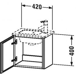 Duravit L-Cube LC6272L2222 Тумба подвесная 42 см Белый глянцевый