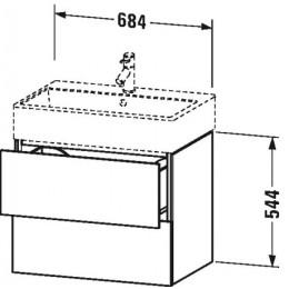 Duravit L-Cube LC627602222 Тумба подвесная 68 см Белый глянцевый