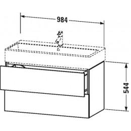 Duravit L-Cube LC627802222 Тумба подвесная 98 см Белый глянцевый