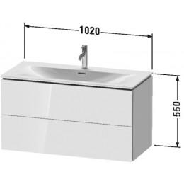 Duravit L-Cube LC630802222 Тумба подвесная 102 см Белый глянцевый