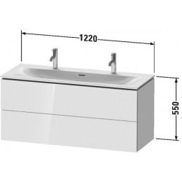 Duravit L-Cube LC630902222 Тумба подвесная 122 см Белый глянцевый