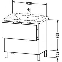Duravit L-Cube LC660102222 Тумба напольная 82 см Белый глянцевый