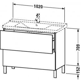 Duravit L-Cube LC660202222 Тумба напольная 102 см Белый глянцевый