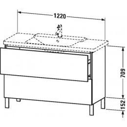 Duravit L-Cube LC660302222 Тумба напольная 122 см Белый глянцевый
