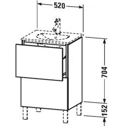 Duravit L-Cube LC660402222 Тумба напольная 52 см Белый глянцевый