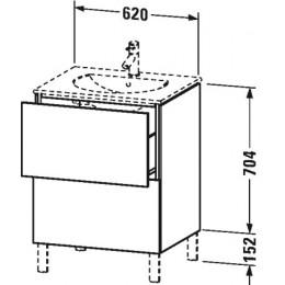 Duravit L-Cube LC660502222 Тумба напольная 62 см Белый глянцевый