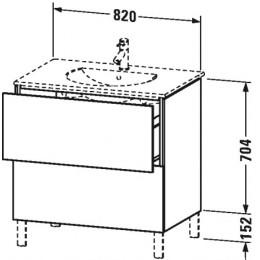 Duravit L-Cube LC660602222 Тумба напольная 82 см Белый глянцевый