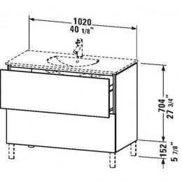 Duravit L-Cube LC660702222 Тумба напольная 102 см Белый глянцевый