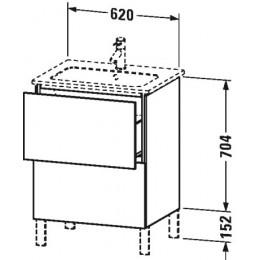 Duravit L-Cube LC662502222 Тумба напольная 62 см Белый глянцевый