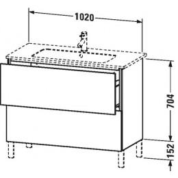 Duravit L-Cube LC662702222 Тумба напольная 102 см Белый глянцевый