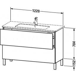 Duravit L-Cube LC662802222 Тумба напольная 122 см Белый глянцевый
