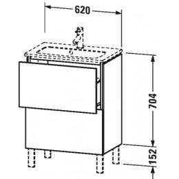 Duravit L-Cube LC667302222 Тумба напольная 62 см Белый глянцевый