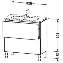 Duravit L-Cube LC667402222 Тумба напольная 82 см Белый глянцевый